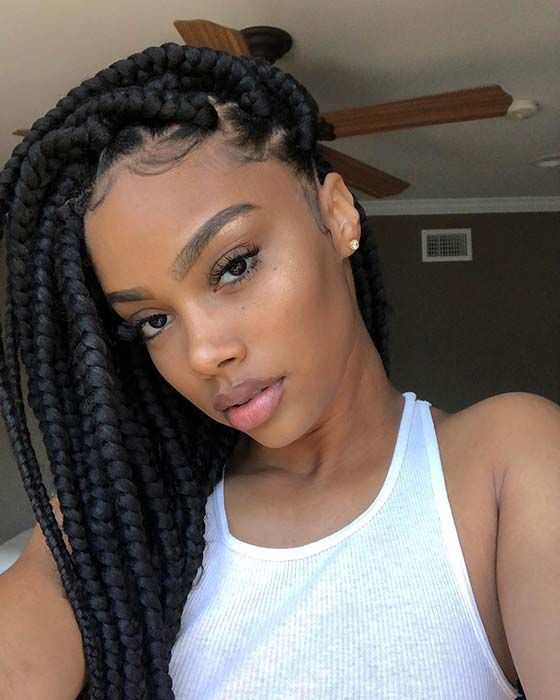 41 Best Jumbo Box Braids Hairstyles