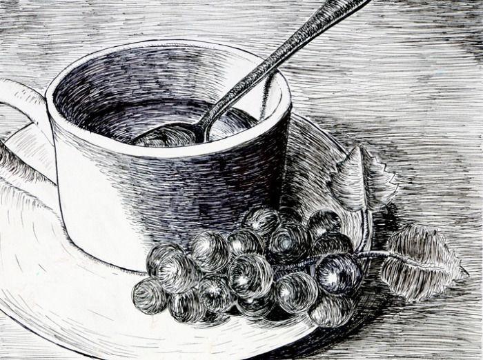 Contour Line Drawing Technique : Best th grade art projects images on pinterest coil