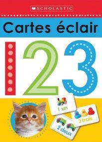 Cartes éclair 123 initie les enfants aux nombres. Chaque carte éclair indique un nombre d'un côté et de l'autre, ce nombre est représenté en image, en chiffres et en lettres. Le jeu de cartes comprend les nombres de 1 à 20 et les nombres 30, 40 et 50. De plus, 3 cartes indiquant les signes plus, moins et égal permettent aux enfants de s'exercer à faire des équations mathématiques.