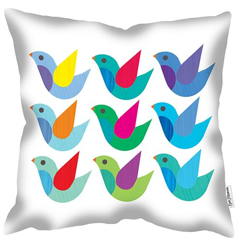 welovecushions - Doves by Kali Stileman - Part of range of adored illustrations now launched in a soft furnishing range