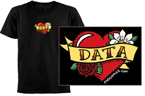 Data T-shirtData T Shirts, Awesome T Shirts, Nerd Smile, Ink Ideas, Grad Schools, Comics Data, Inner Nerd, Nerdy Things, Phd Comics