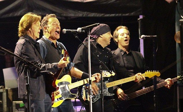Legendary performance: Paul McCartney joins Bruce Springsteen and the E Street Band on stage