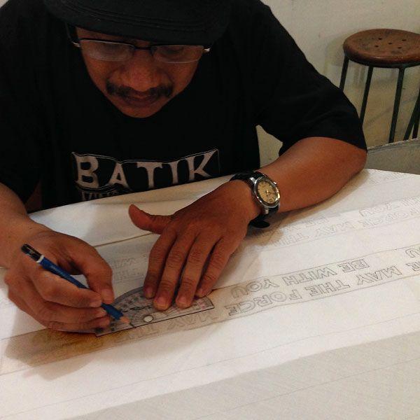 Star Wars themed batik tulis in Yogyakarta, Indonesia