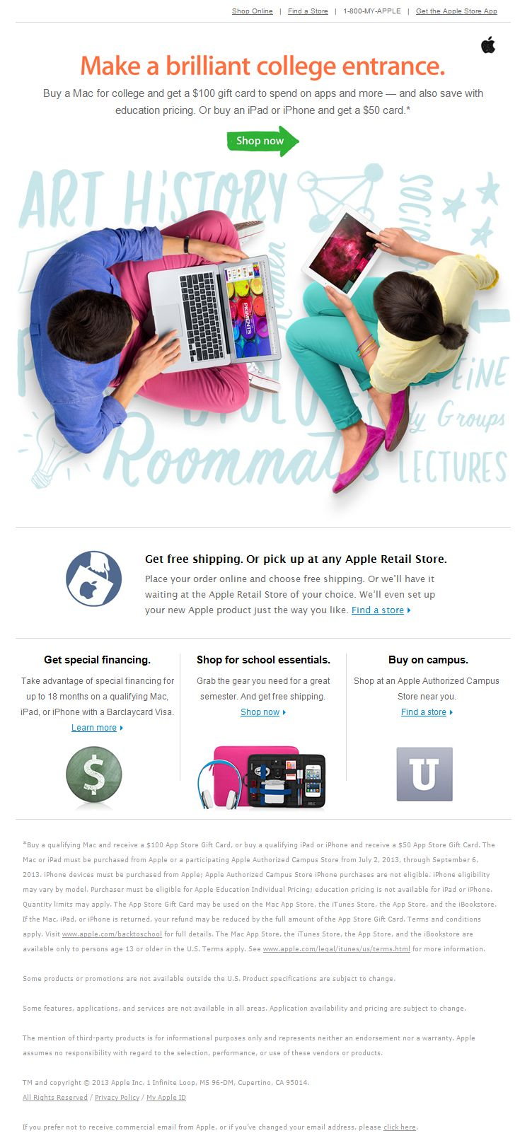 Fall backtoschool email by rakuten back to school