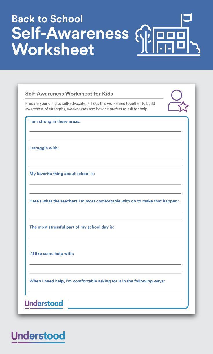 Download SelfAwareness Worksheets for Kids