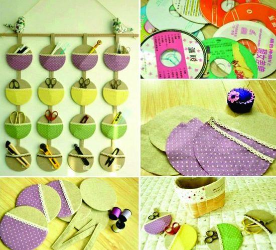 artesanatos com CDs
