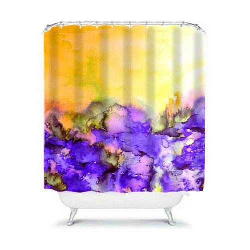 INTO ETERNITY Yellow Lavender Purple Fine Art by EbiEmporium