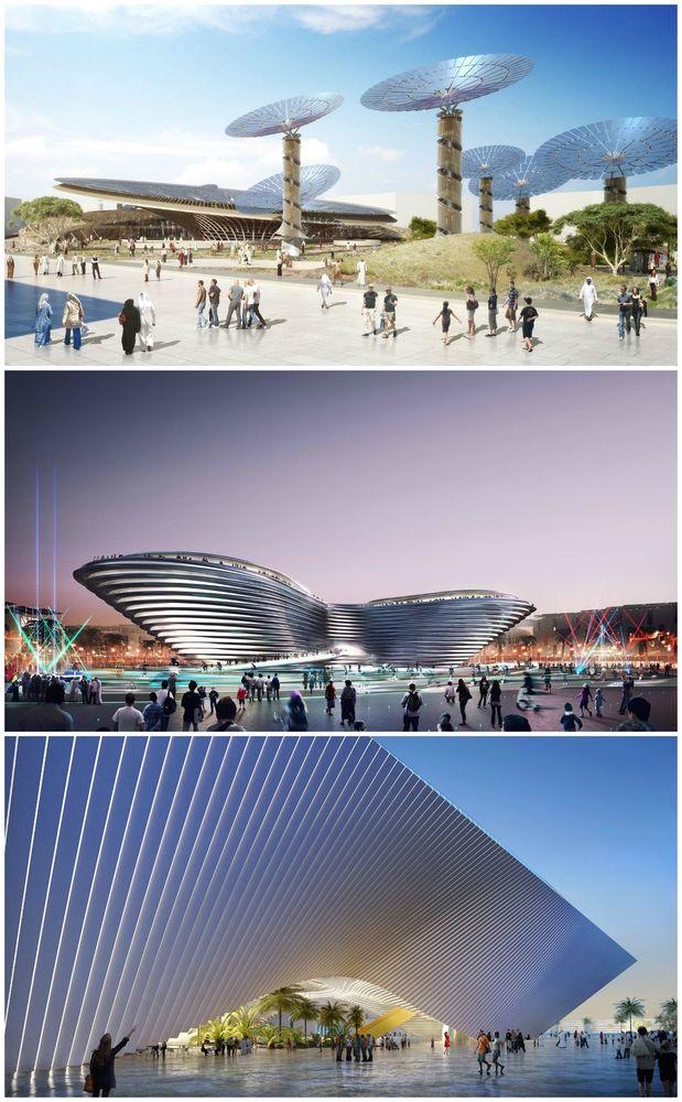 Foster, BIG and Grimshaw Design Main Pavilions for Expo 2020 Dubai,© Expo 2020 Dubai