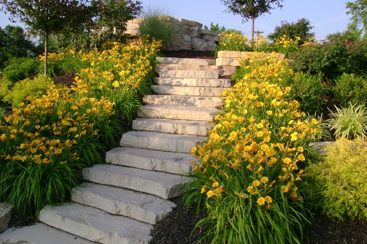 104 best images about Incline Landscape Ideas on Pinterest ... on Inclined Backyard Ideas id=86411