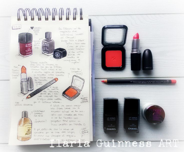 Sketchbook by Ilaria Guinness ART https://www.facebook.com/TKPLips.manga/ Mac Cosmetics - Chanel