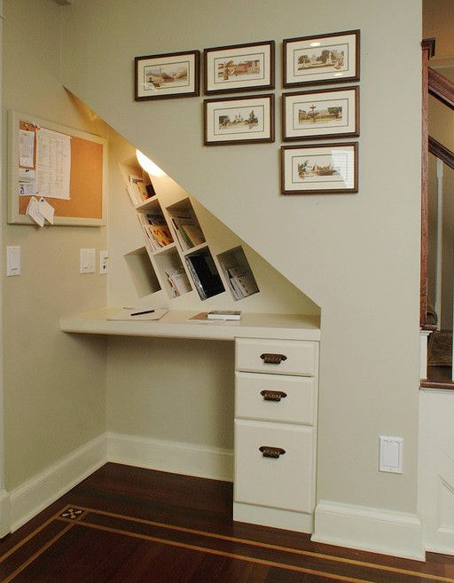 17 best ideas about Desk Under Stairs on Pinterest | Under the stairs,  Basement home