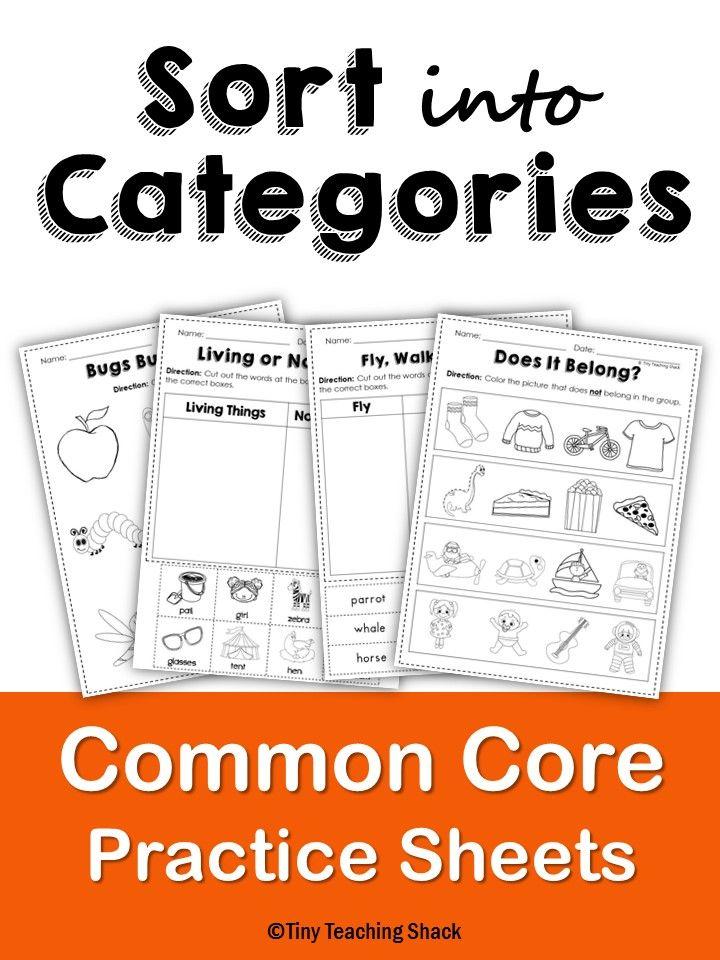 sort into categories common core practice sheets l 1 5 a. Black Bedroom Furniture Sets. Home Design Ideas