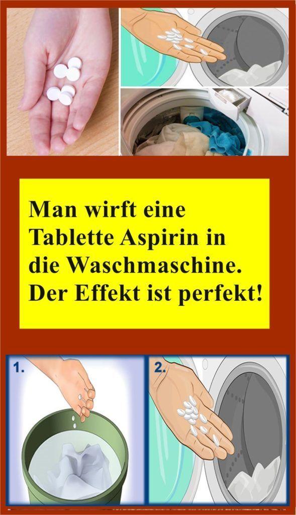 Man wirft eine Tablette Aspirin in die Waschmaschine. Der Effekt ist perfekt!   … – Bianca Reinhardt