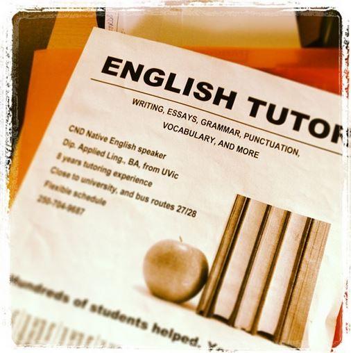 English tutor, that's me!