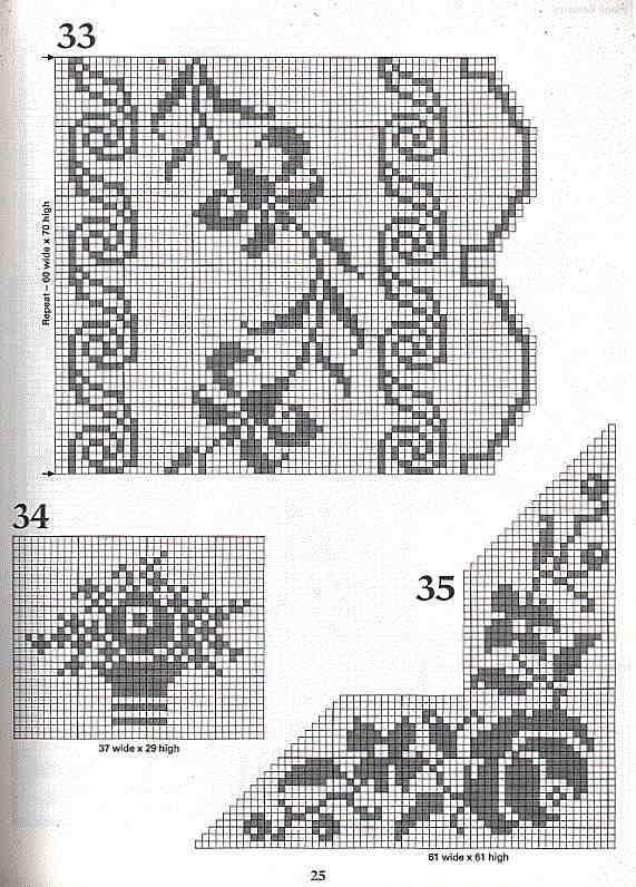 101+Filet+Crochet+Charts+25.jpg (571×796)