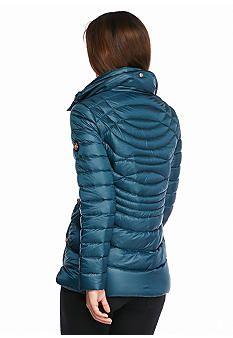 Bernardo Quilted Packable Jacket with Hood