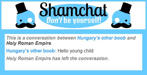 A conversation between Holy Roman Empire and Hungary's other boob
