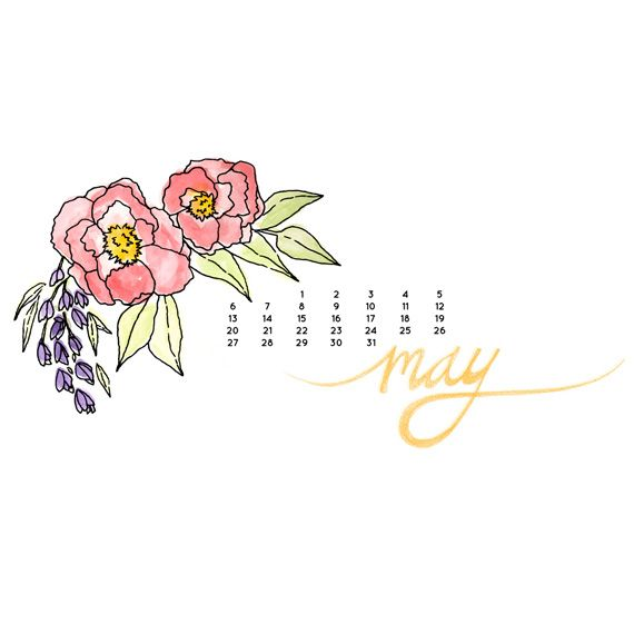 May 2012 desktop calendar by The Lovely Dept.: Design Inspiration, Watercolor Calendar, Iphone Calendar, Phone Desktop, Flower, Desktop Calendars, Computer Smart Phone, Floral Watercolor, Watercolor Floral