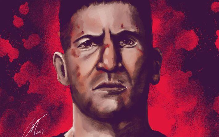 Lataa kuva 4k, Punisher, art, 2017 elokuva, TV-sarja