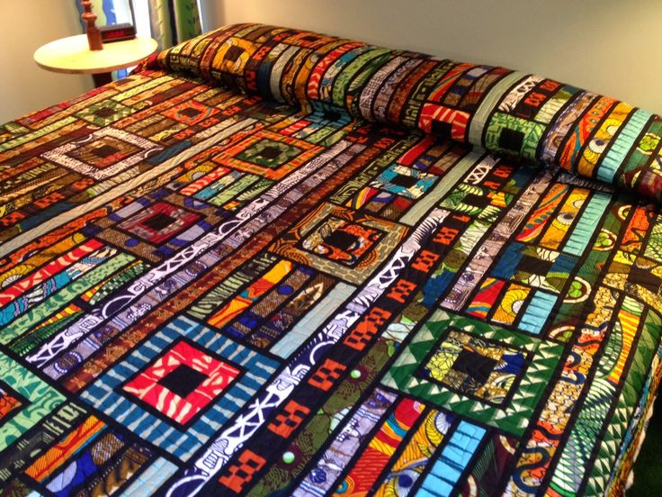 Africa Quilt by Mary Pat Callihan at Quilting Quietly. Inspired by the Gypsy Wife pattern. Look how those colors ZING!