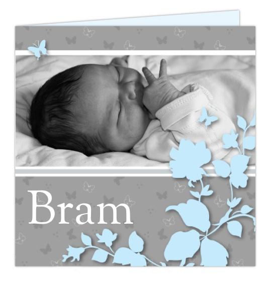foto-geboortekaartje uit de design-collectie van 'hipDesign'
