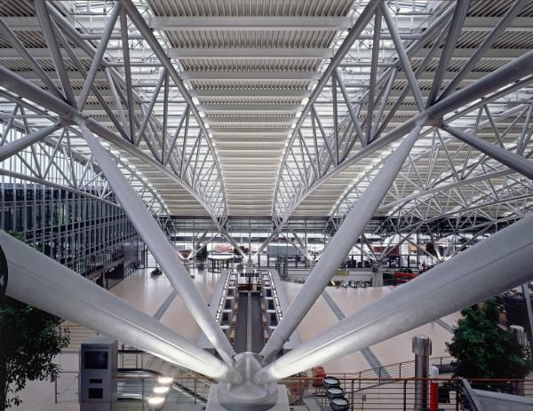Hamburg Airport Details Steel Structure Buildings
