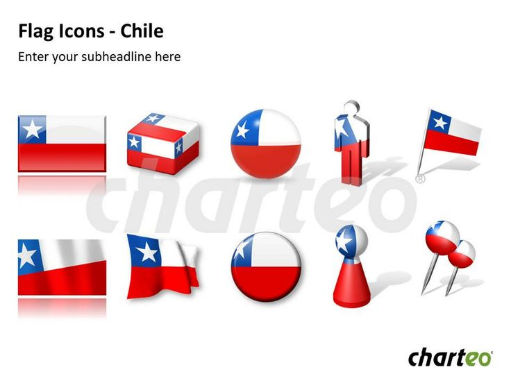 Illustrate Chile-related topics with our modernly designed Chilean flag icons for PowerPoint. Download now at http://www.charteo.com/en/PowerPoint/Icons-Symbols/Flag-Icons-Chile-PowerPoint.html