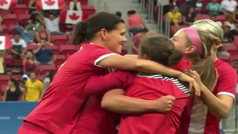 Canada finishes top of the group after historic 2-1 win over Germany in women's soccer - Rio 2016 - August 9, 2016