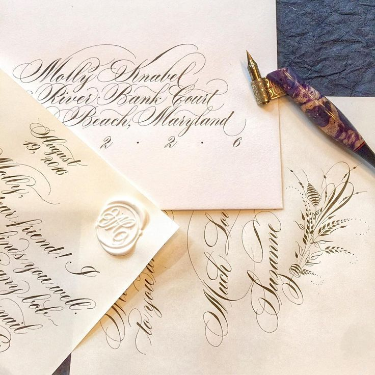 229 Best Copperplate Calligraphy Images On Pinterest
