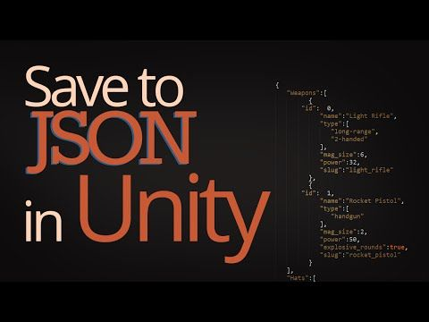 how to save data using json in unity youtube