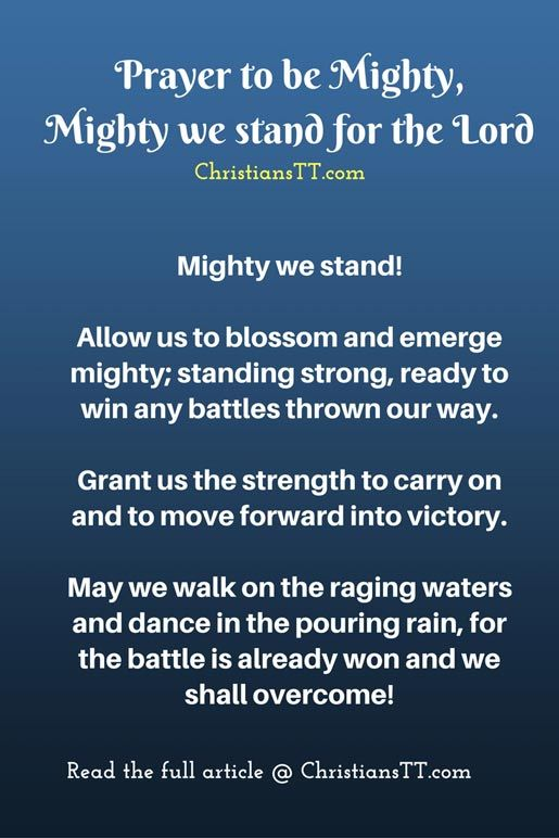 Prayer to be Mighty, Mighty we stand for the Lord | DAILY PRAYER