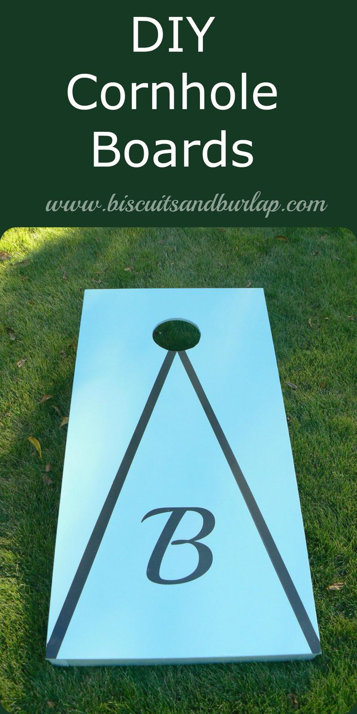 Build Your Own Cornhole Boards. It costs way less than buying & you can decorate however you like.