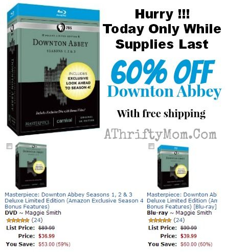 MASTERPIECE DOWNTON ABBEY SEASON 1,2 AND 3 BOX SET ~ SHIPPED FREE TODAY ONLY HURRY