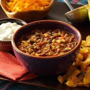 Santa Fe Chili from Taste Of Home, made it this evening, absolutely delicious and so easy!!!  Only change I made was using lower salt items when possible.