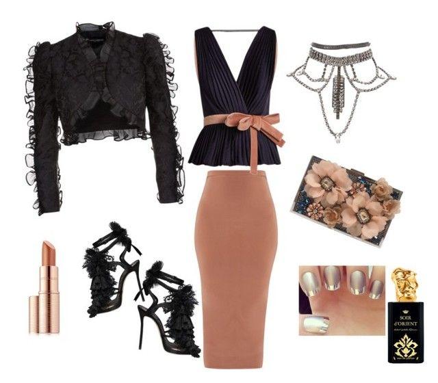 Night out by georgia-ret on Polyvore featuring polyvore, moda, style, Roksanda, Dolce&Gabbana, Dsquared2, Sondra Roberts, Estée Lauder, Sisley, fashion and clothing