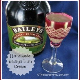 Homemade Bailey's Irish Cream Drink