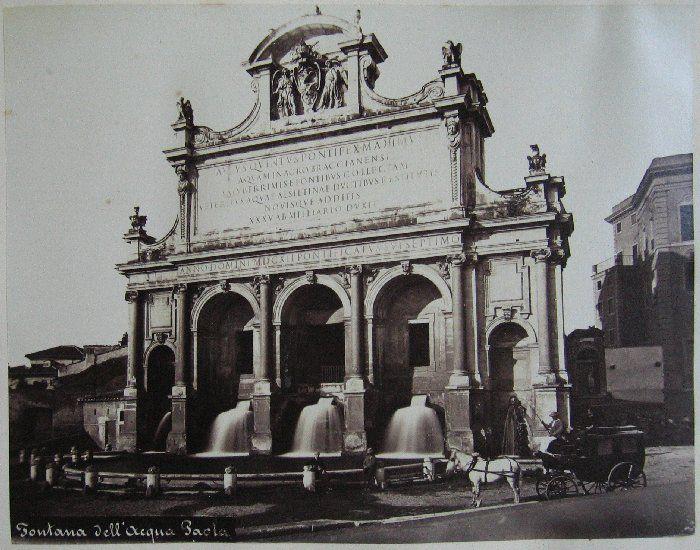 Fontana dell'Acqua Paola ante 1875
