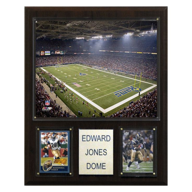 NFL 12 x 15 in. Edward Jones Dome Stadium Plaque - 1215EDJODM