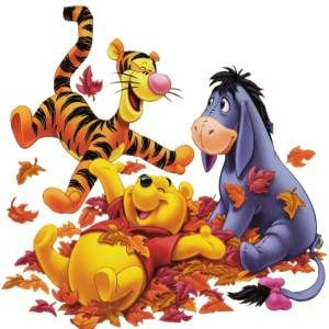 Two of my favorite things, Winnie Pooh and fall :) These were the characters who represented our sons...