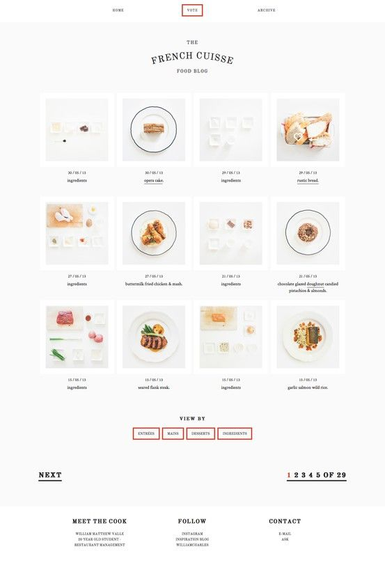 The french cuisse - Food Blog | #webdesign #it #web #design #layout #userinterface #website #webdesign < repinned by www.BlickeDeeler.de | Visit our website www.blickedeeler.de/leistungen/webdesign