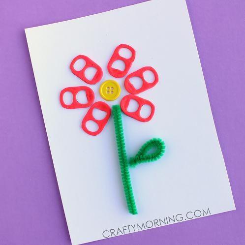 DIY Mother's Day : DIY Soda Pop Tab Flower Card/Craft Idea -
