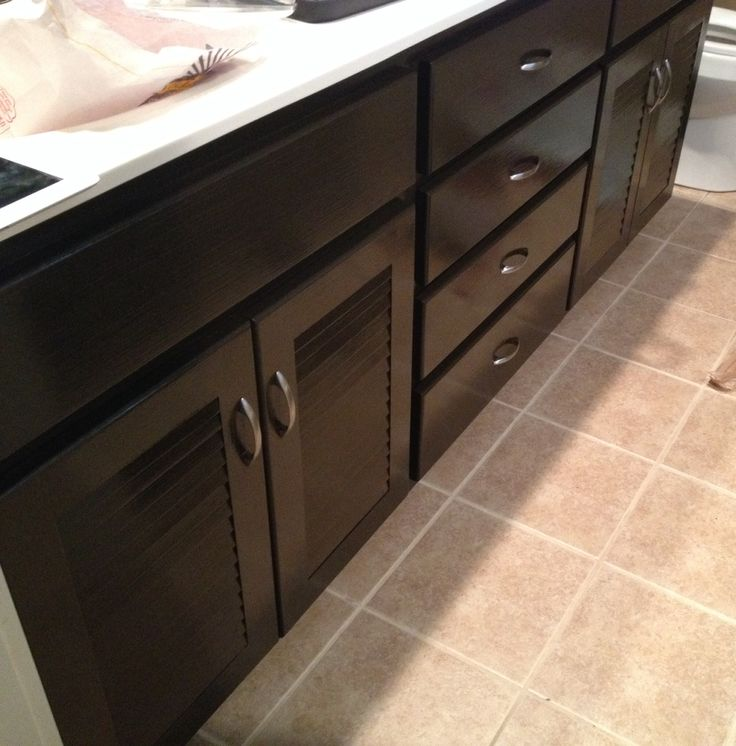 Black Kitchen Cabinets Paint Color: For Lower Kitchen Cabinets.... My Cabinets! Espresso Behr