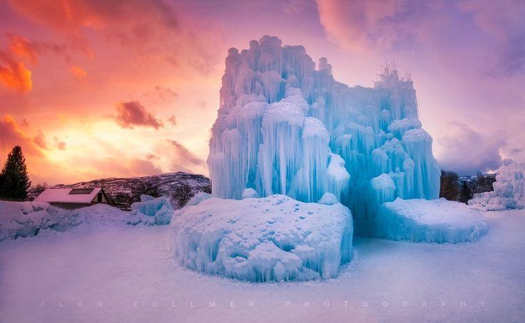 Ice Castle Sunset Glow