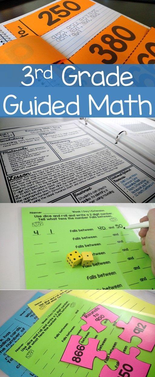 3rd Grade Guided Math Year long resource