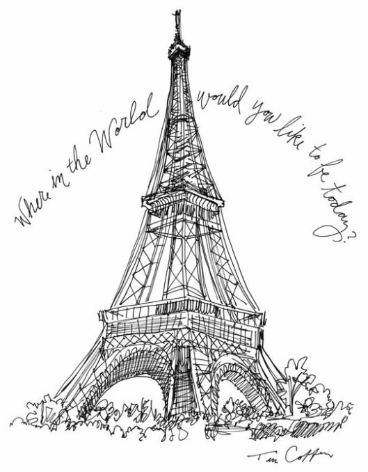Eiffel Tower Drawing | Eiffel Tower « Caffeine for the Creative Soul