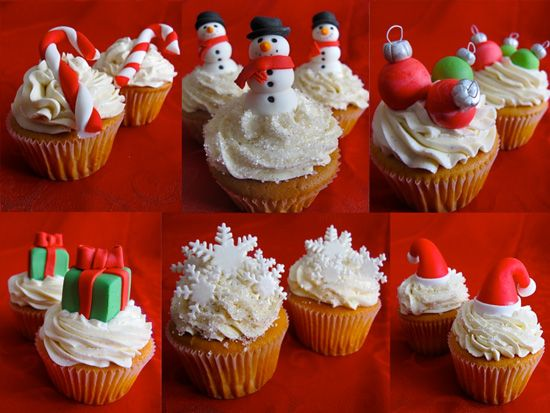 107 best Christmas Cupcakes images on Pinterest  Christmas foods