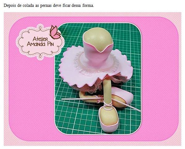 bailarina y mini bolo de amanada pin
