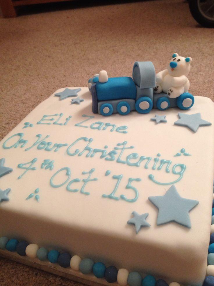 Christening cake for a little boy