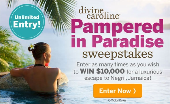 Enter as many times as you wish to win $10,000 for a luxurious escape to Negril, Jamaica!