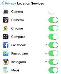 how to turn off location tracking on iphone 6